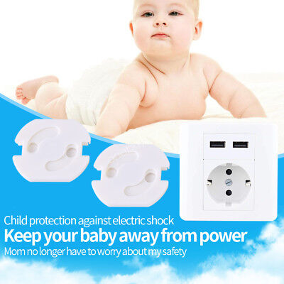 10xElectric Outlet Point Plug Cover Main Power Socket Baby Kid Safe 3.5x3.5cm OB