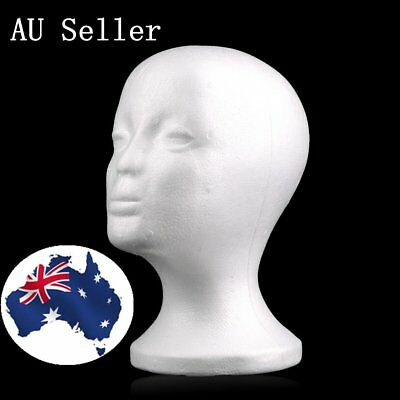 Popular Male Styrofoam Mannequin Foam Head Model Wig Glasses Hat Display Stand R