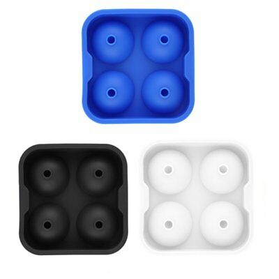 Whiskey Ice Cube Ball Tray Brick Round Maker Mold Sphere Mould Bar Silicone AR5