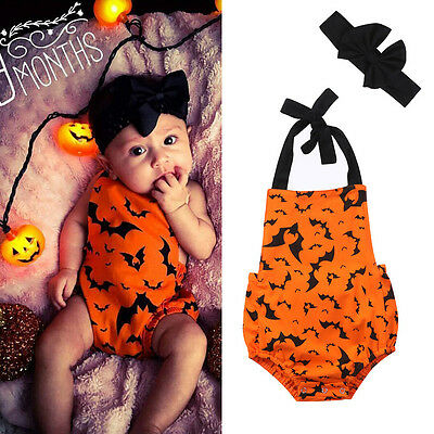 Halloween Newborn Baby Bodysuit Romper Kids Boy Girl Jumpsuit Clothes Outfit Set
