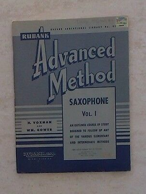 Rubank advanced method saxophone music book vol 1 by h.voxman and w.m. gower