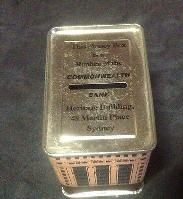 VINTAGE COMMONWEALTH BANK MONEY BOX Replica Of Heritage Bldng  Martin Place Syd