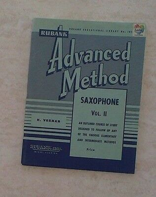 Rubank advanced method saxophone music book vol 11 by h.voxman and w.m. gower