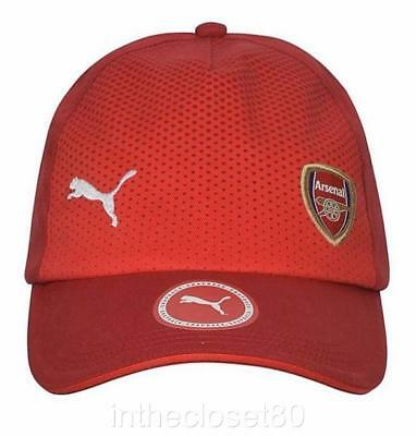 Puma Official Arsenal FC Snapback Cap 2017/ 2018 Adjustable Red White 021368 01