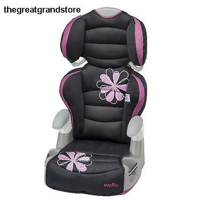 Booster Car Seat Safety Chair Toddler Child Adjustable High Back Cup Holder Side