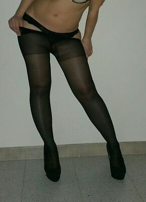 calze, collant, tight, Pantyhose USED. Color Nero