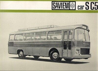 Saviem S C5 Coach Mid-Late 1960s French Market Foldout Sales Brochure