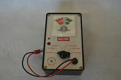 Vintage Mallory Battery Tester Boxed & Working