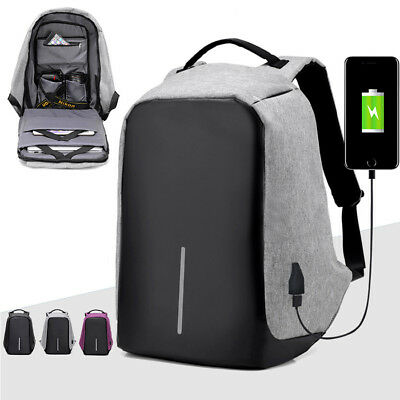 Unisex Anti-Theft Waterproof Backpack USB Port  Camera Laptop School Bag