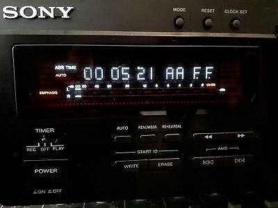 Sony ES DTC-ZA5ES Digital Audio Tape DAT Player Recorder Dec / 5.21 uur gespeeld