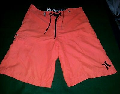 mens orange 'Hurley' board shorts/swim suits size 30