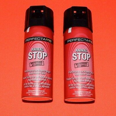 2x PERFECTA 110 Animal STOP Pfeffer Spray - Dose á 50 ml - zur Tierabwehr!