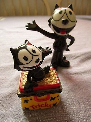 2 porcelain Felix the Cat   Wade 2007 Figure & small box