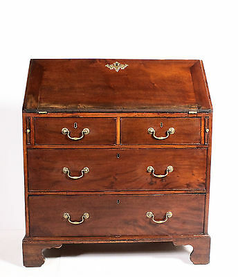 Early C19th Antique Georgian George III Mahogany Bureau Writing Desk