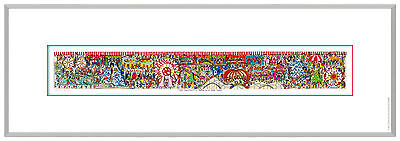 "XL James Rizzi 3 D Bild "" The fantastic formula for fun "" NEU;  mit Zertifikat"