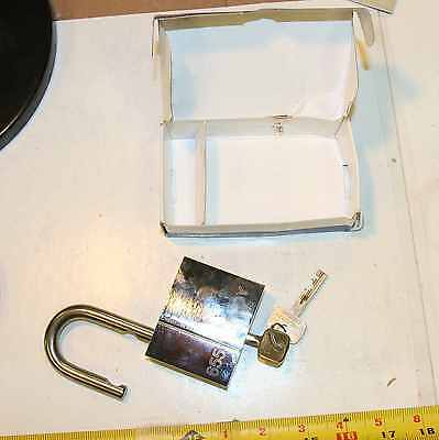 Abloy 655 padlock with 2 working keys - new unused - high security