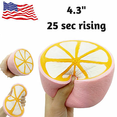 Jumbo Lemon Cake Slow Rising Scented Charms Squishy Squeeze Christmas Toy 4.3''
