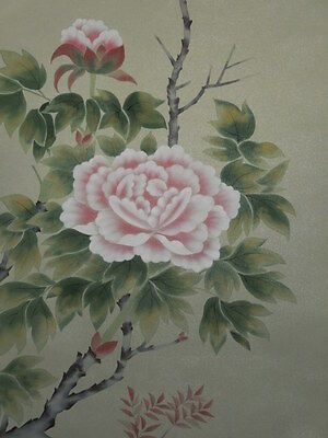 Hanging Scroll Peony Japanese Painting ink 大山 Asian art Antique Pic Japan p58