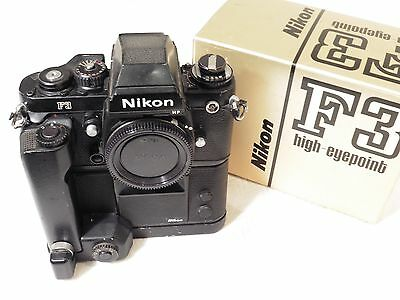 Nikon F3 HP High Eyepoint Manual Focus 35mm Film Camera with MD-4 Motor Drive