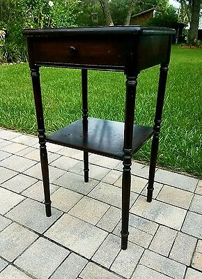 Mahogany Nightstand candle stand accent table Ferguson Bros. Antique federal