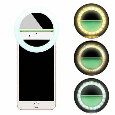 Rechargeable Selfie Light, Bodecin Portable Mini 40 LED 360° Beauty Fill in Ring