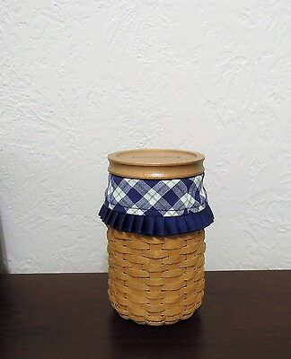 Retired Longaberger Pride Basket Coin Bank with Protector, Liner & Info Booklet