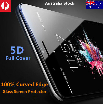 5D Curved Full Cover Tempered Glass Screen protector For Apple iPhoneX 8 7 plus6