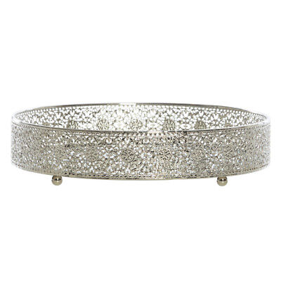 Diannella Lace Metal and Mirror Round Tray