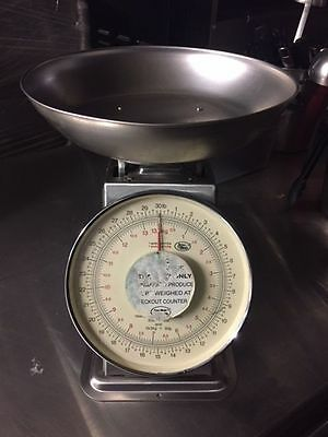 Yamato Accu-Weigh Produce Food Weighing Commercial Scale 30lb Capacity Free Ship