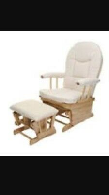 Kiddie Care Glider Chair And Stool