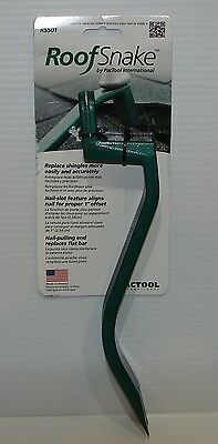 PacTool International RS501 Roof Snake Shingle Tool, Nail Puller, Brand New.