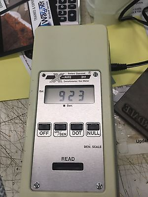 X-Rite 341 Battery Operated B/W Transmission Densitometer Excellent Condition,
