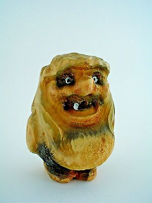 """Vintage 3"""" Wooden Hand Carved Troll Figure Made in Norway #092 Highly Sought"""