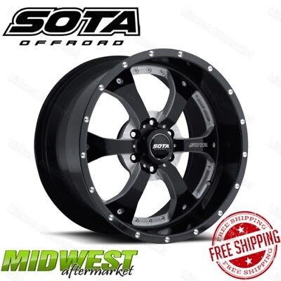 SOTA Offroad NOVAKANE 20x9 6x135 Bolt Pattern 0 Offset 87 Bore Death Metal Rim