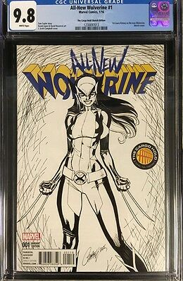 All-New Wolverine #1 CGC 9.8 J. Scott Campbell Cargo Hold Sketch Variant Cover!