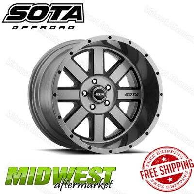 SOTA Offroad AWOL 20x12 5x5 Bolt Pattern -51mm Offset Anthra-Kote Black Rim