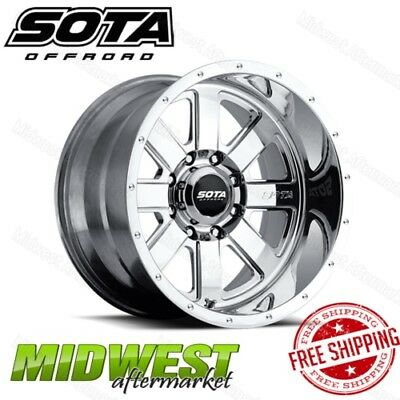 SOTA Offroad AWOL 20x12 8x170 Bolt Pattern -51mm Offset 130mm Bore Polished Rim