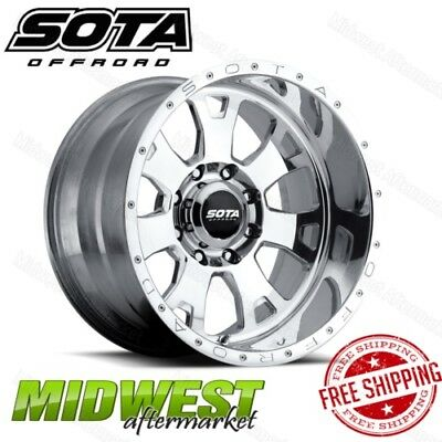 SOTA Offroad Polished BRAWL 20x9 6x5.5 Bolt Pattern 0 Offset 106mm Bore Rim