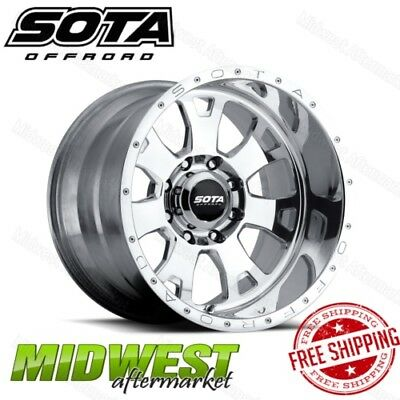 SOTA Offroad Polished BRAWL 20x9 8x180 Bolt Pattern 0mm Offset 130mm Bore Rim