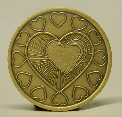 Sobriety Medallion - Bronze - Heart In Recovery -Recovery Chip