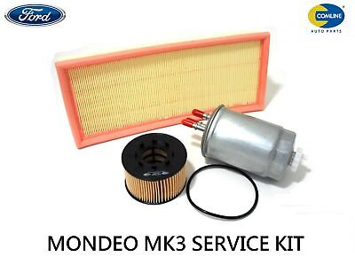 For Ford Mondeo Mk3 2.0 2.2 Tdci Diesel Oil Air Fuel Filter Service Kit 2001-07