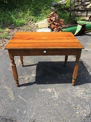 Antique Pine Plank Farm Table .
