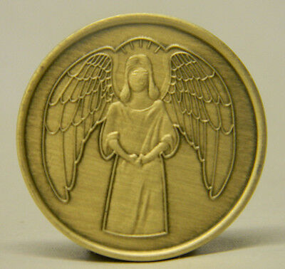 Sobriety Medallion - Bronze - Guardian Angel -Recovery Chip