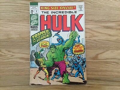 Incredible Hulk King Size Special 3 (1970) Marvel Comics