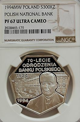 Poland 1994 Polish National Bank 300000 zl NGC PF67
