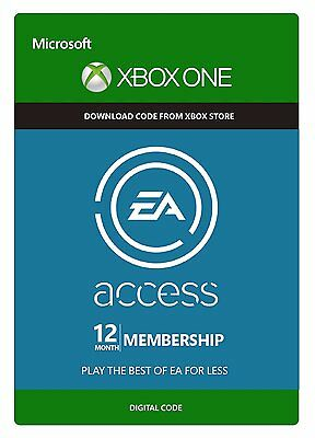 EA Access - XBOX ONE/360 12 Month 1 Year Subscription Key Membership Code