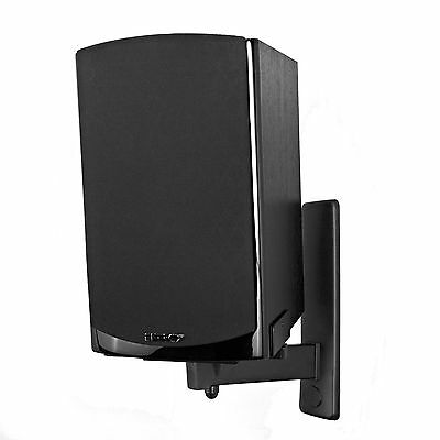 Pinpoint AM40-B Side Clamping Bookshelf Wall Mount for Speaker - Black