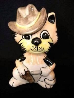Lorna Bailey Cowboy Cat Jessie James Collectable Western Piece