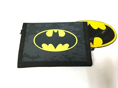 Official Batman Dc Comics Bat Logo Boys Trifold Money Change Notes Wallet New