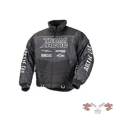 5251-172 Arctic Cat Genuine Jacket Team Arctic Black Medium- SALE